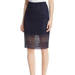 NWT Cupcakes & Cashmere Derry Eyelet Pencil skirt
